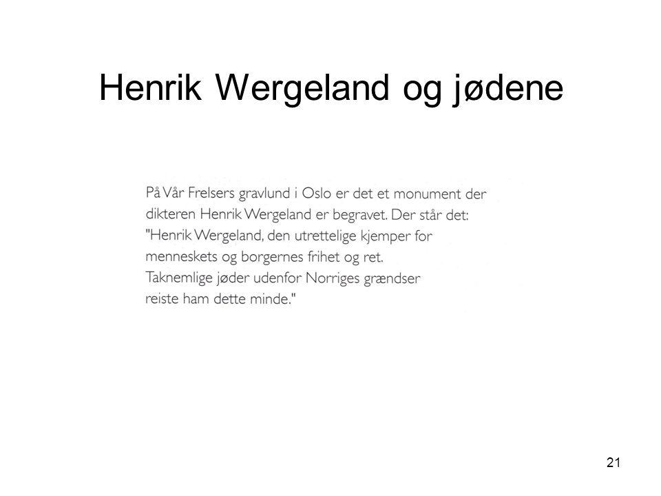 Henrik Wergeland og jødene
