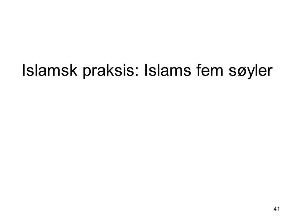 Islamsk praksis: Islams fem søyler