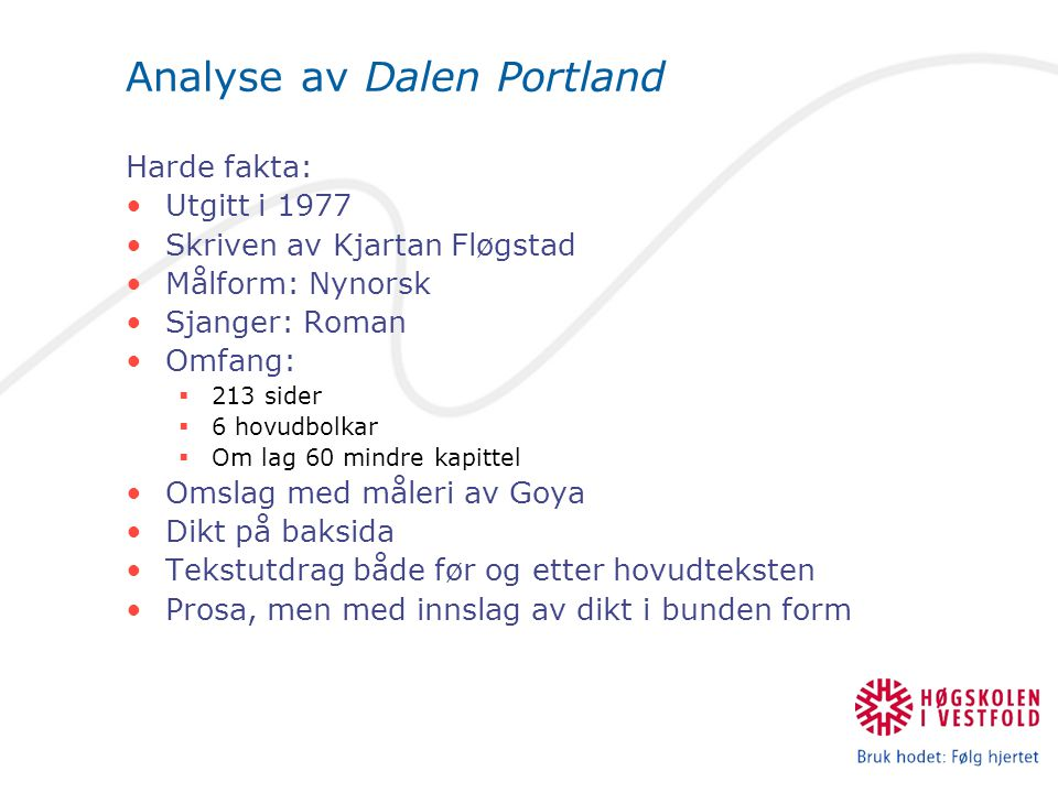 Analyse av Dalen Portland