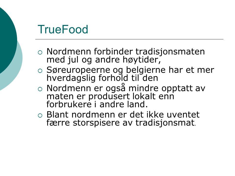 TrueFood Nordmenn forbinder tradisjonsmaten med jul og andre høytider,