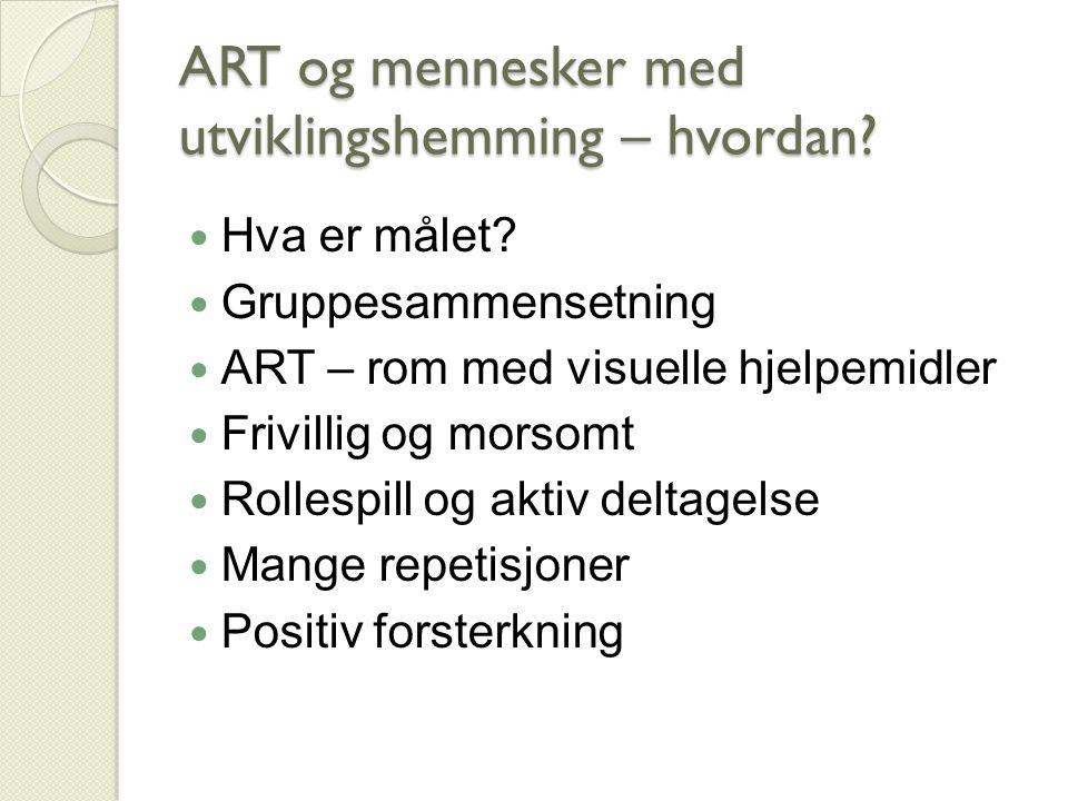 ART og mennesker med utviklingshemming – hvordan