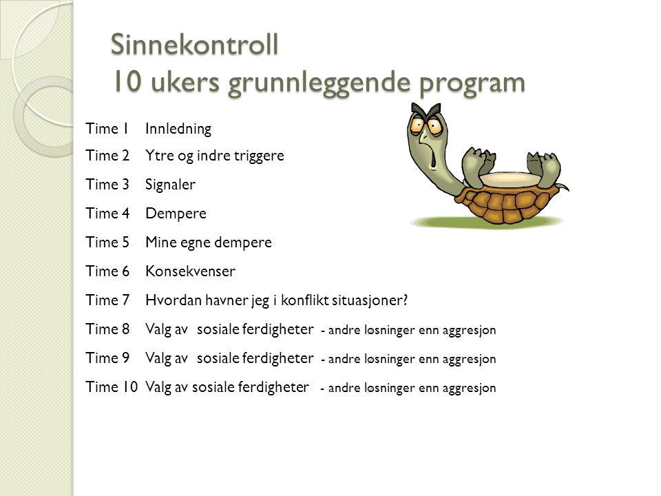 Sinnekontroll 10 ukers grunnleggende program