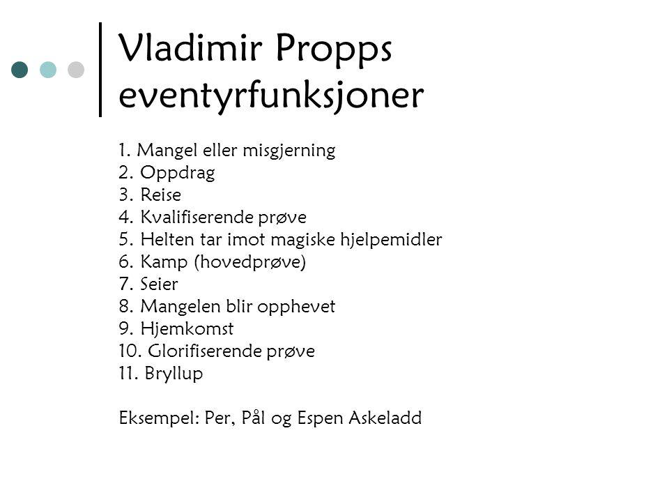 Vladimir Propps eventyrfunksjoner