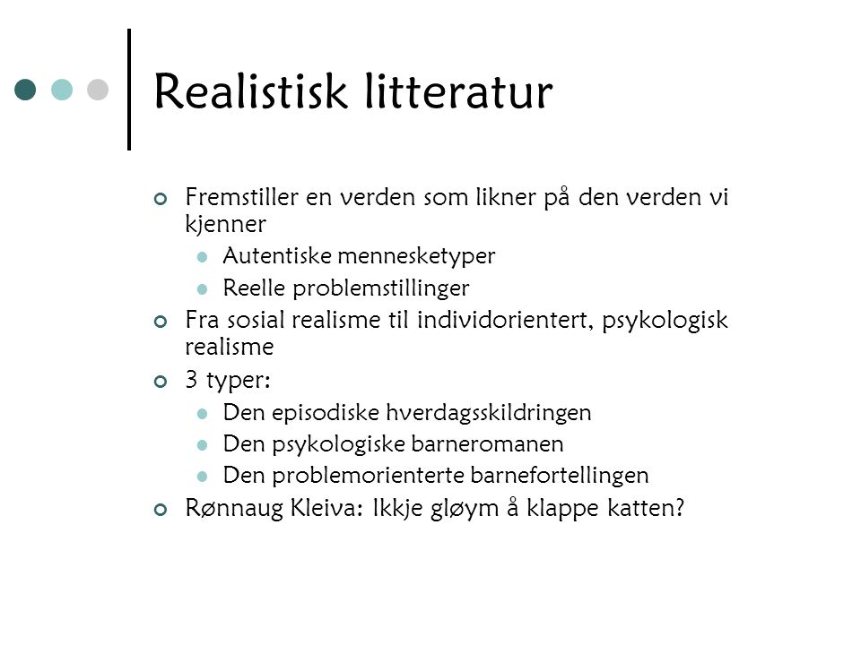 Realistisk litteratur