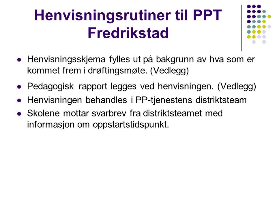 Henvisningsrutiner til PPT Fredrikstad