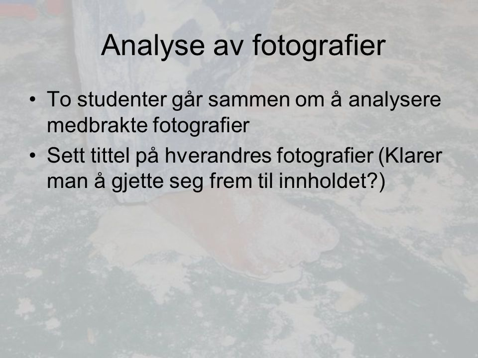 Analyse av fotografier