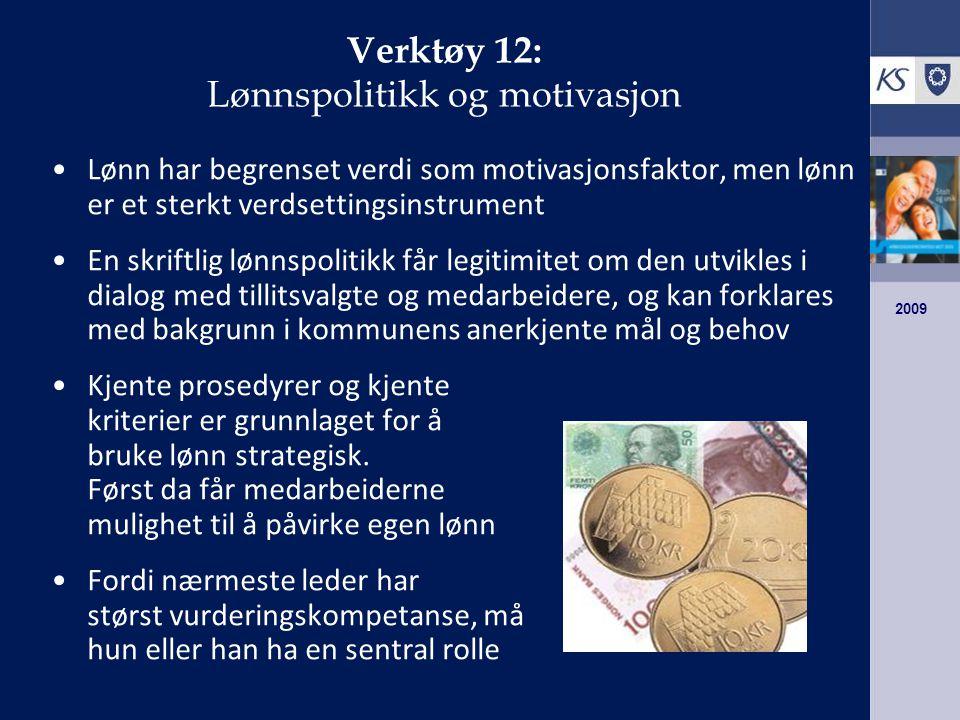 Verktøy 12: Lønnspolitikk og motivasjon