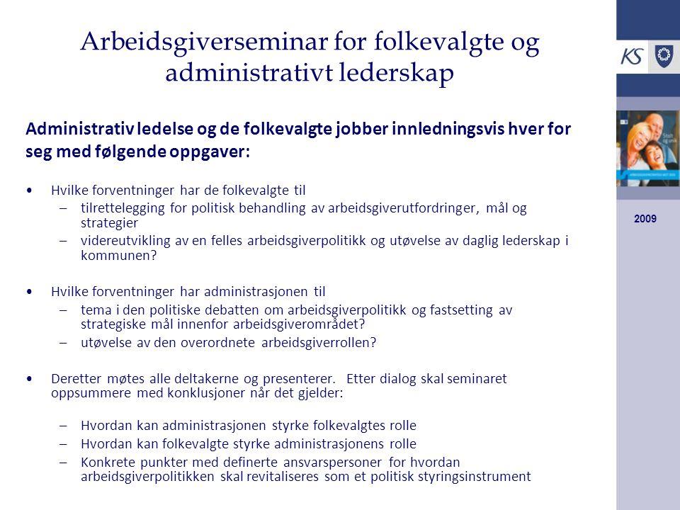 Arbeidsgiverseminar for folkevalgte og administrativt lederskap