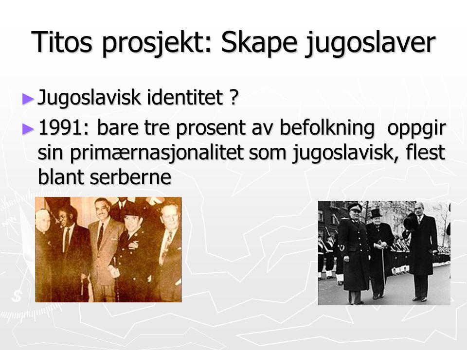 Titos prosjekt: Skape jugoslaver