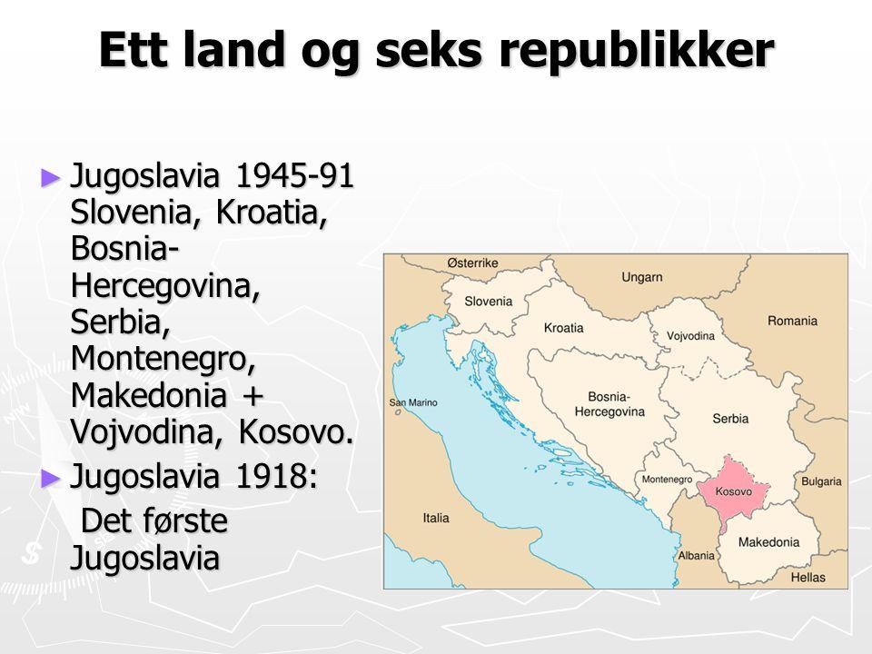Ett land og seks republikker