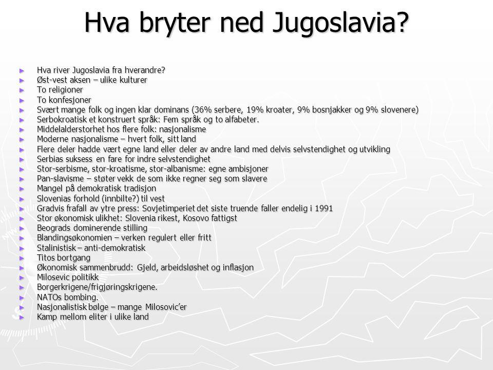 Hva bryter ned Jugoslavia