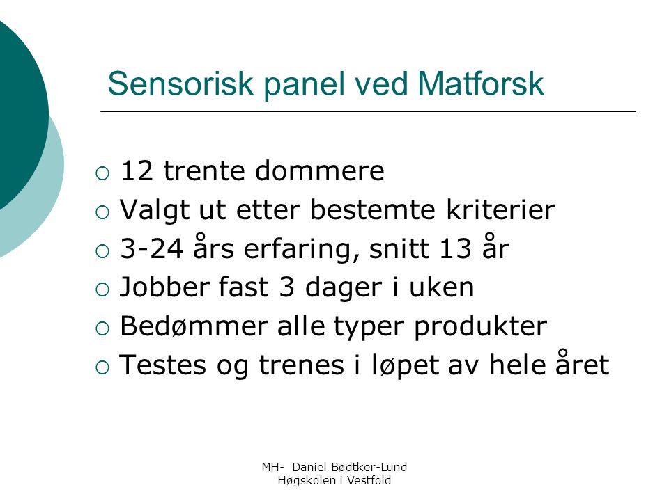 Sensorisk panel ved Matforsk