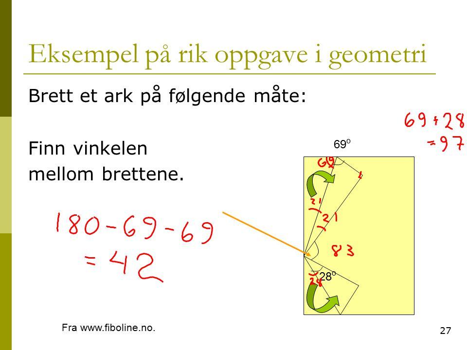 Eksempel på rik oppgave i geometri