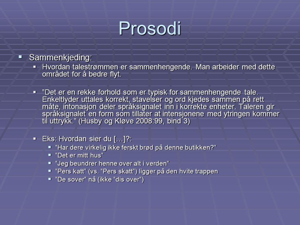 Prosodi Sammenkjeding: