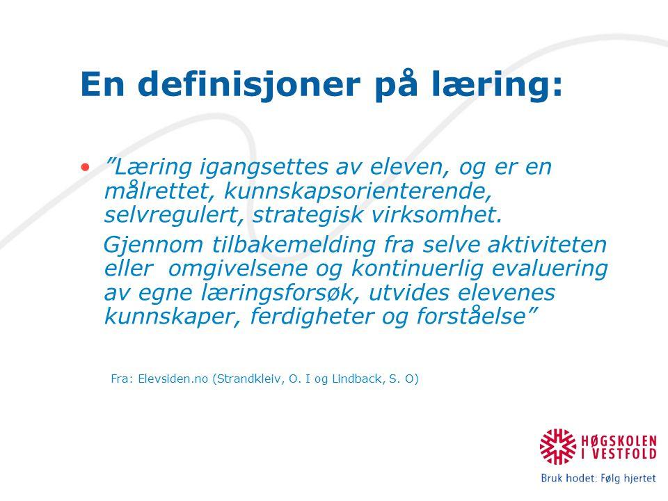 En definisjoner på læring: