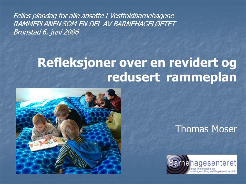 Plandag - Vestfold barnehager 6.6.2006