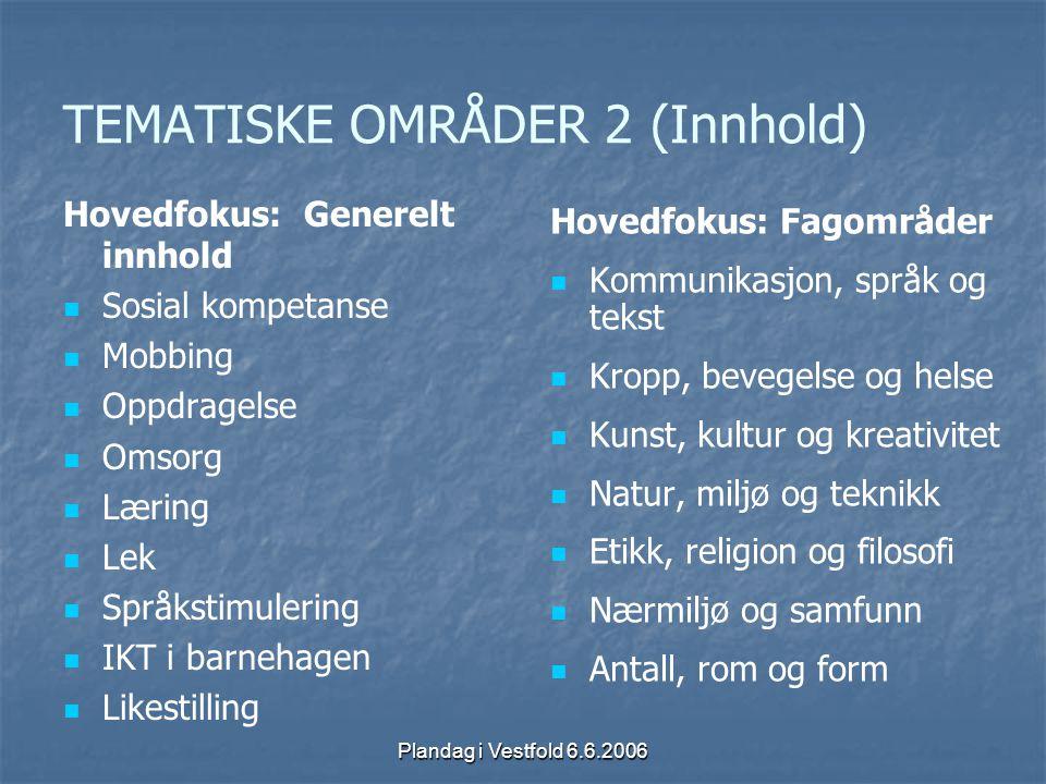 TEMATISKE OMRÅDER 2 (Innhold)