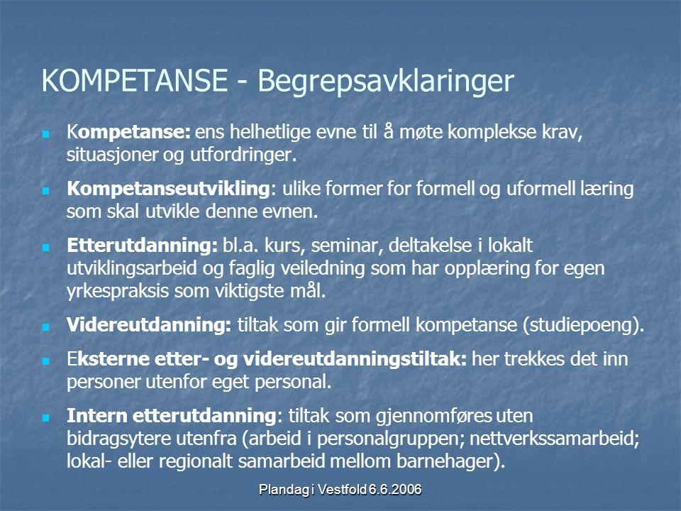 KOMPETANSE - Begrepsavklaringer