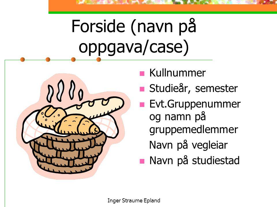 Forside (navn på oppgava/case)