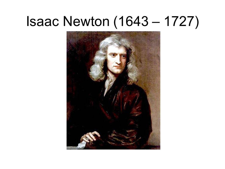 Isaac Newton (1643 – 1727)