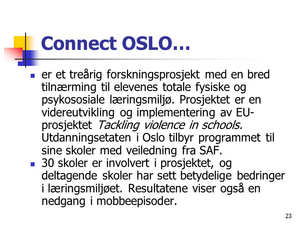 Connect OSLO…