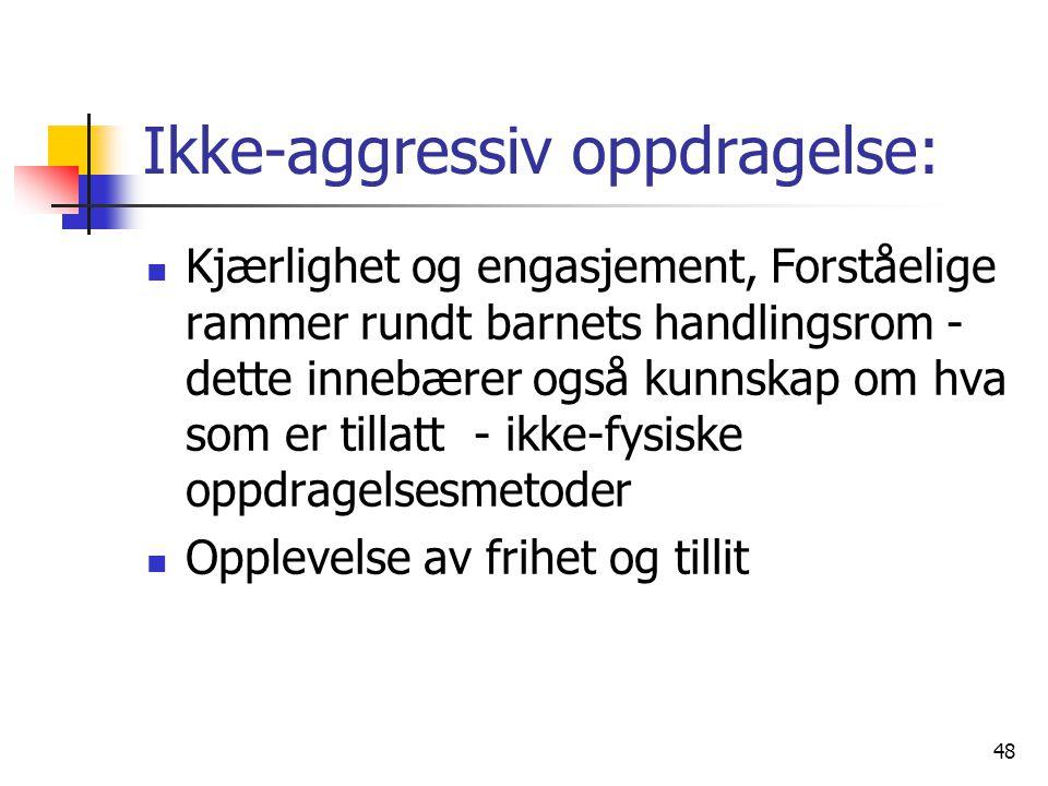 Ikke-aggressiv oppdragelse: