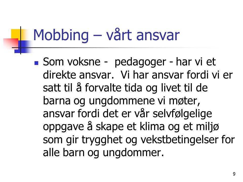 Mobbing – vårt ansvar