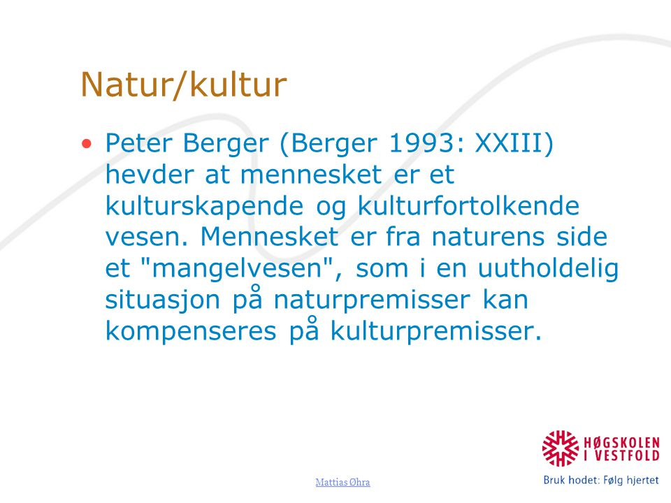 Natur/kultur