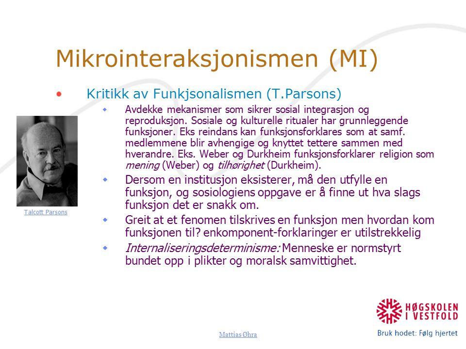 Mikrointeraksjonismen (MI)