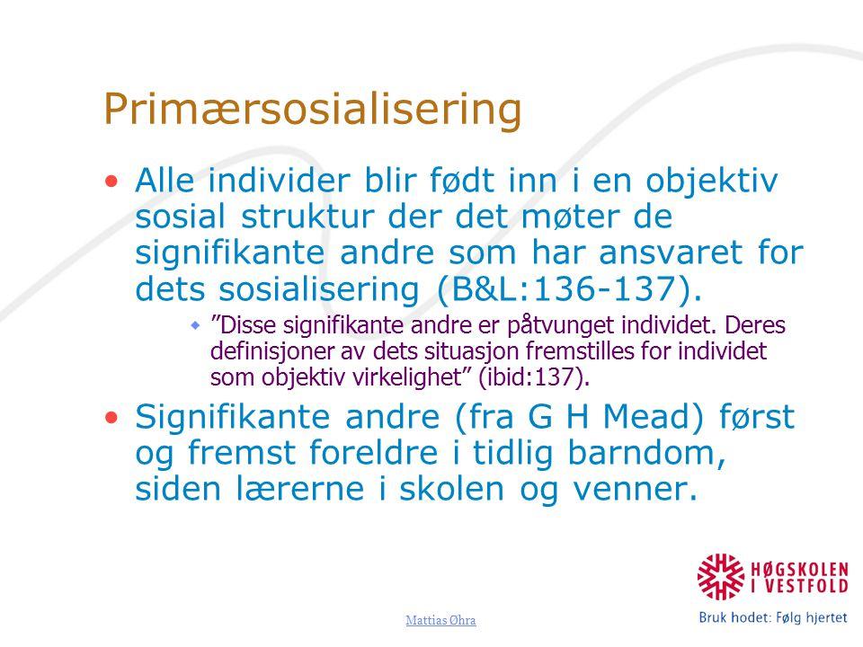 Primærsosialisering