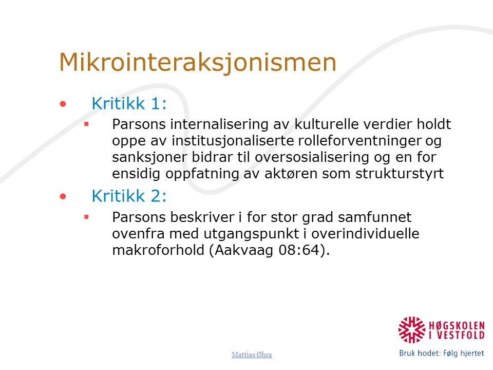 Mikrointeraksjonismen