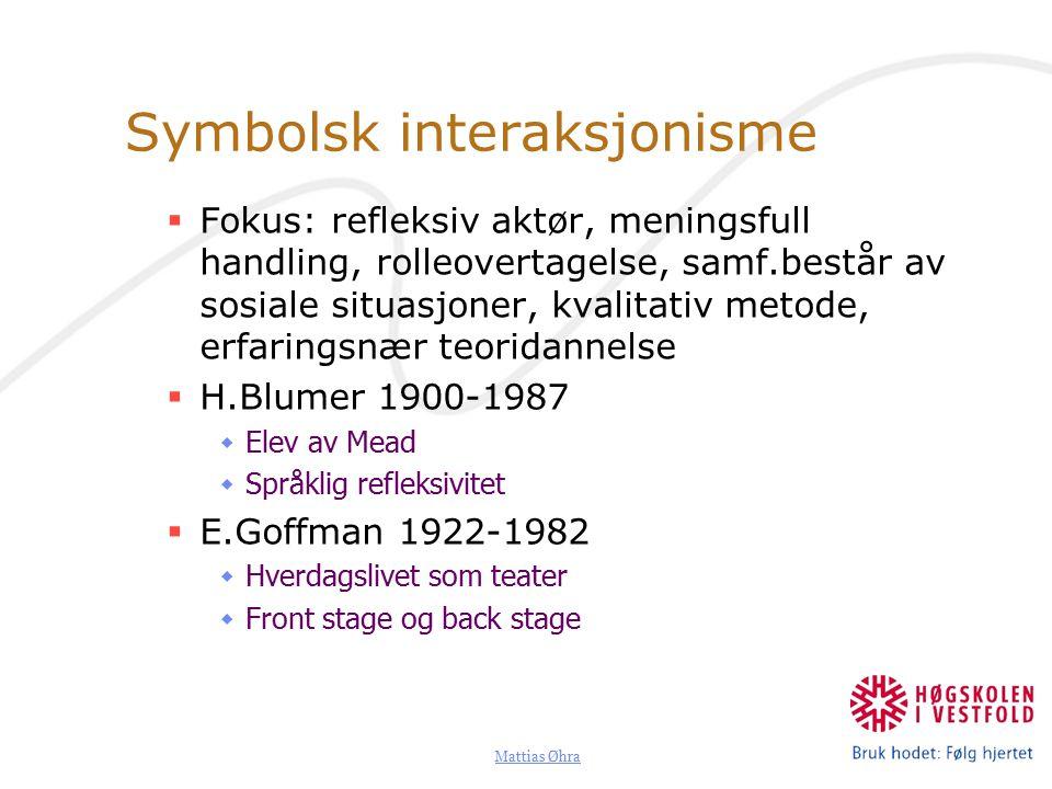 Symbolsk interaksjonisme