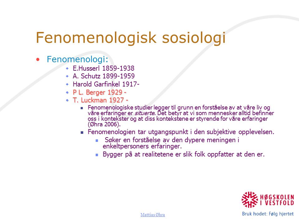 Fenomenologisk sosiologi