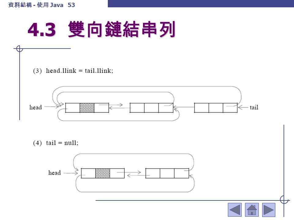 4.3 雙向鏈結串列