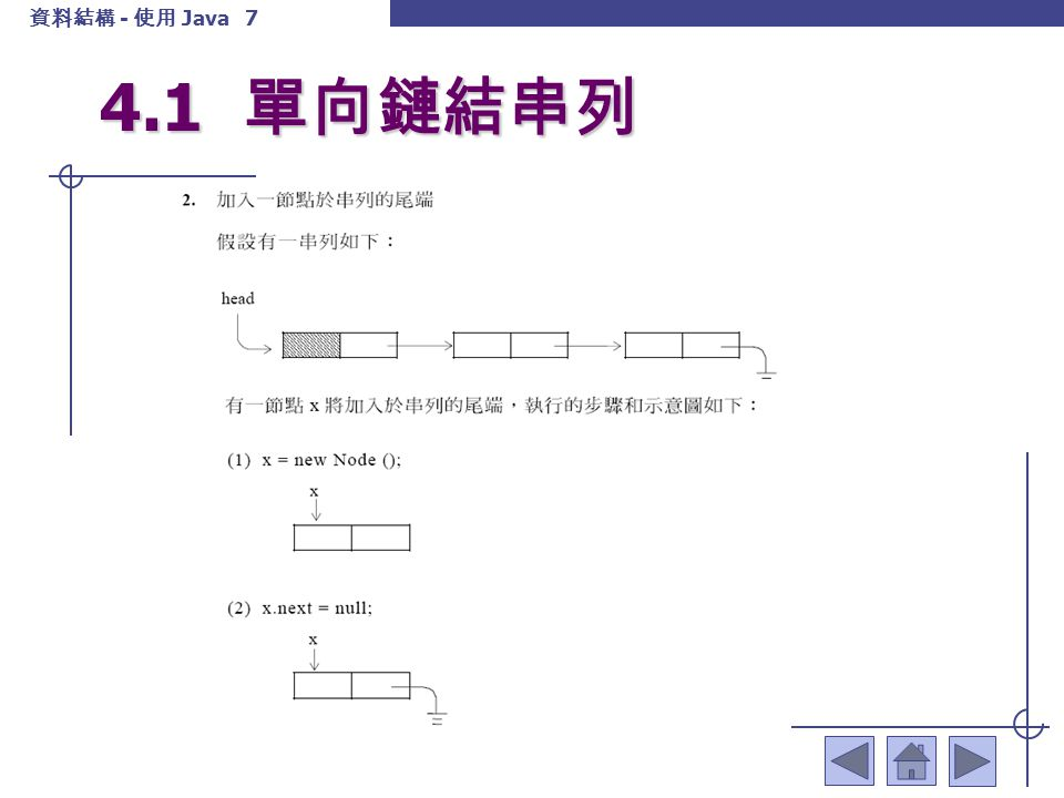 4.1 單向鏈結串列