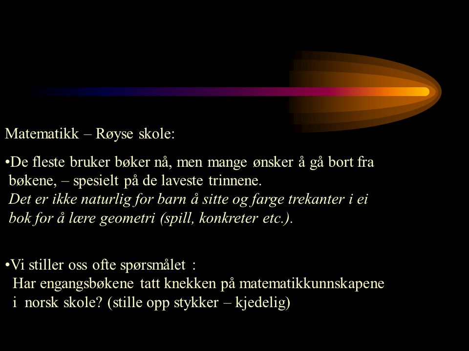 Matematikk – Røyse skole:
