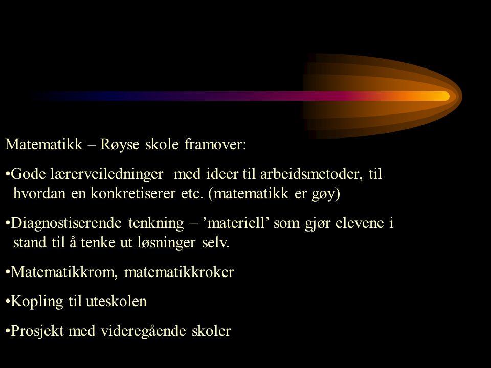 Matematikk – Røyse skole framover: