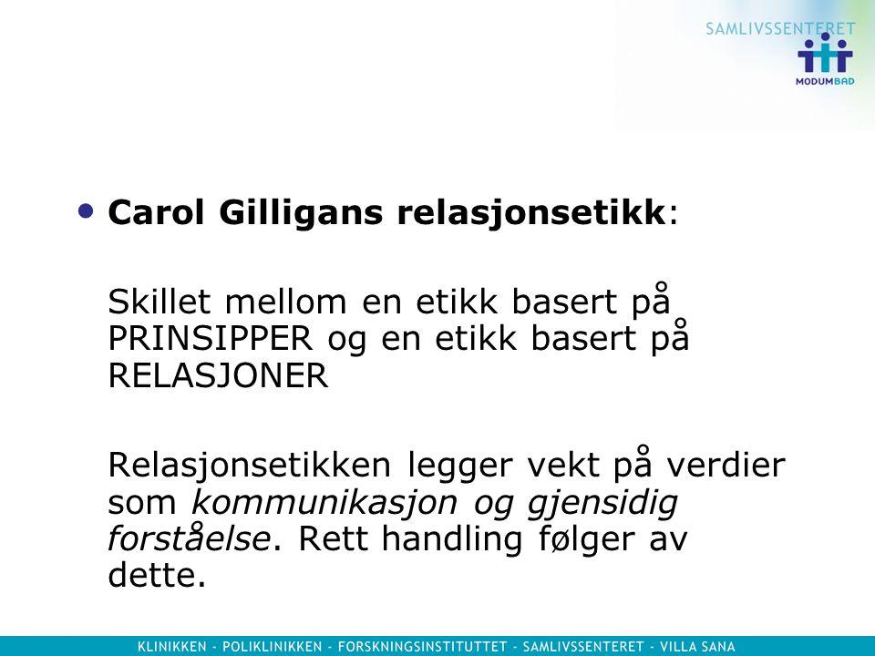 Carol Gilligans relasjonsetikk: