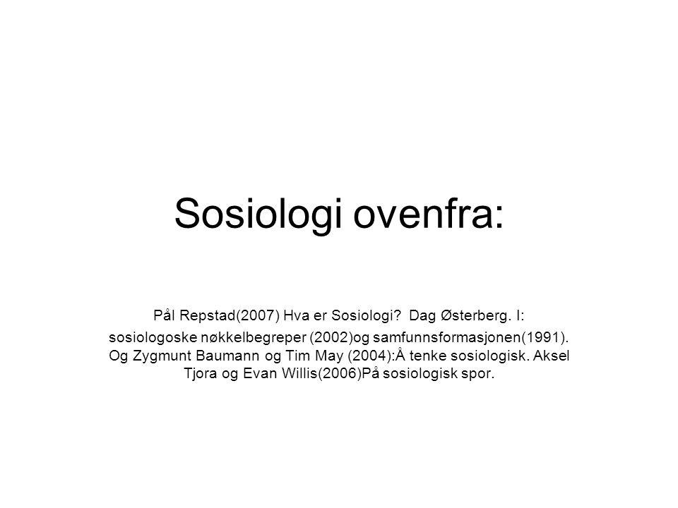 Sosiologi ovenfra: