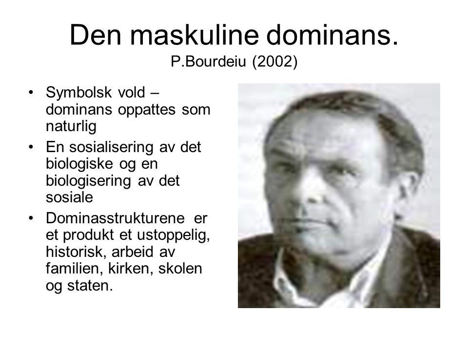 Den maskuline dominans. P.Bourdeiu (2002)