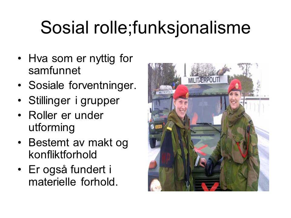 Sosial rolle;funksjonalisme