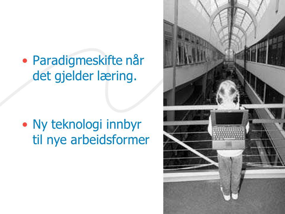 Paradigmeskifte når det gjelder læring.
