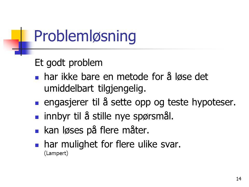 Problemløsning Et godt problem