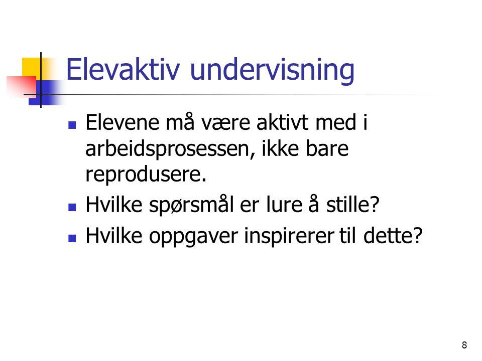 Elevaktiv undervisning