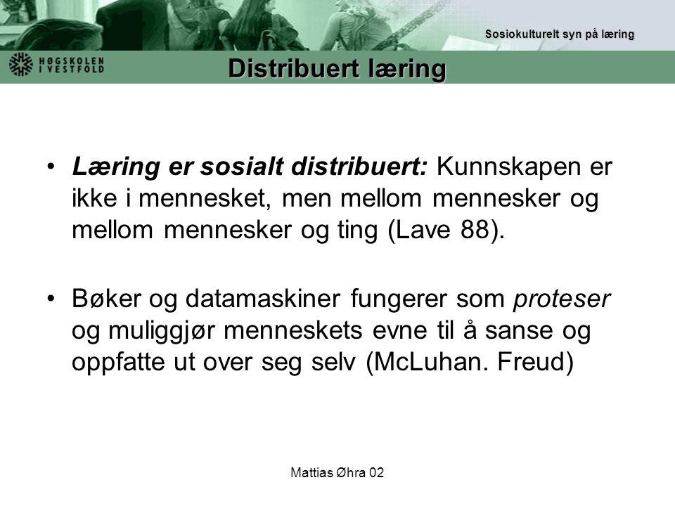 Sosiokulturelt syn på læring