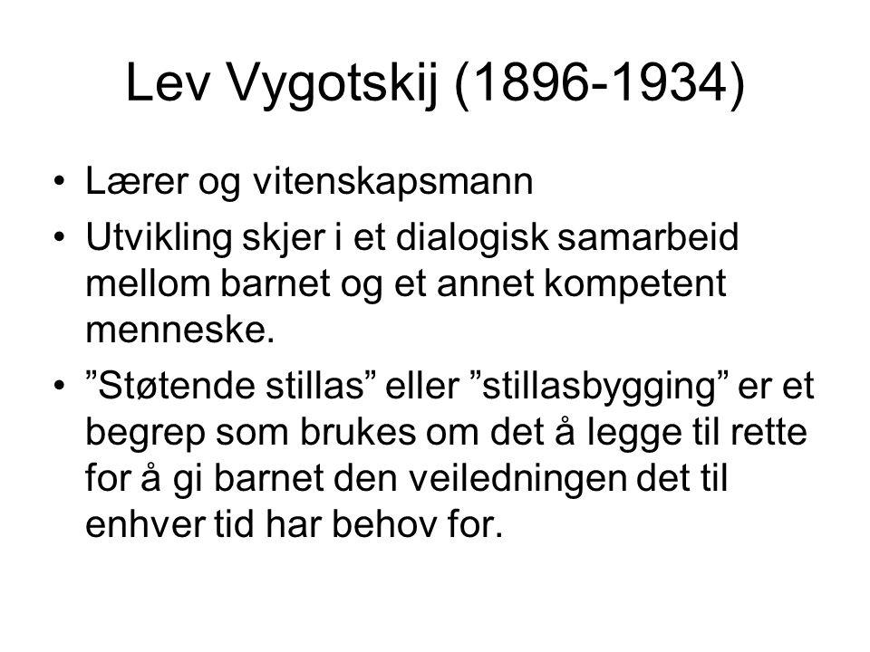 Lev Vygotskij (1896-1934) Lærer og vitenskapsmann