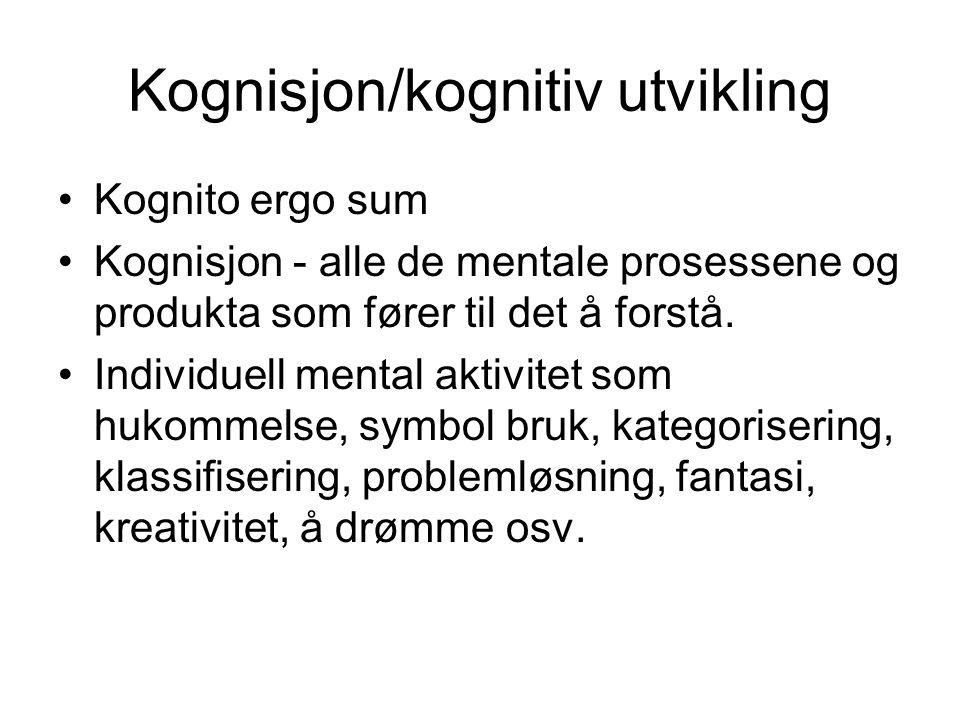 Kognisjon/kognitiv utvikling