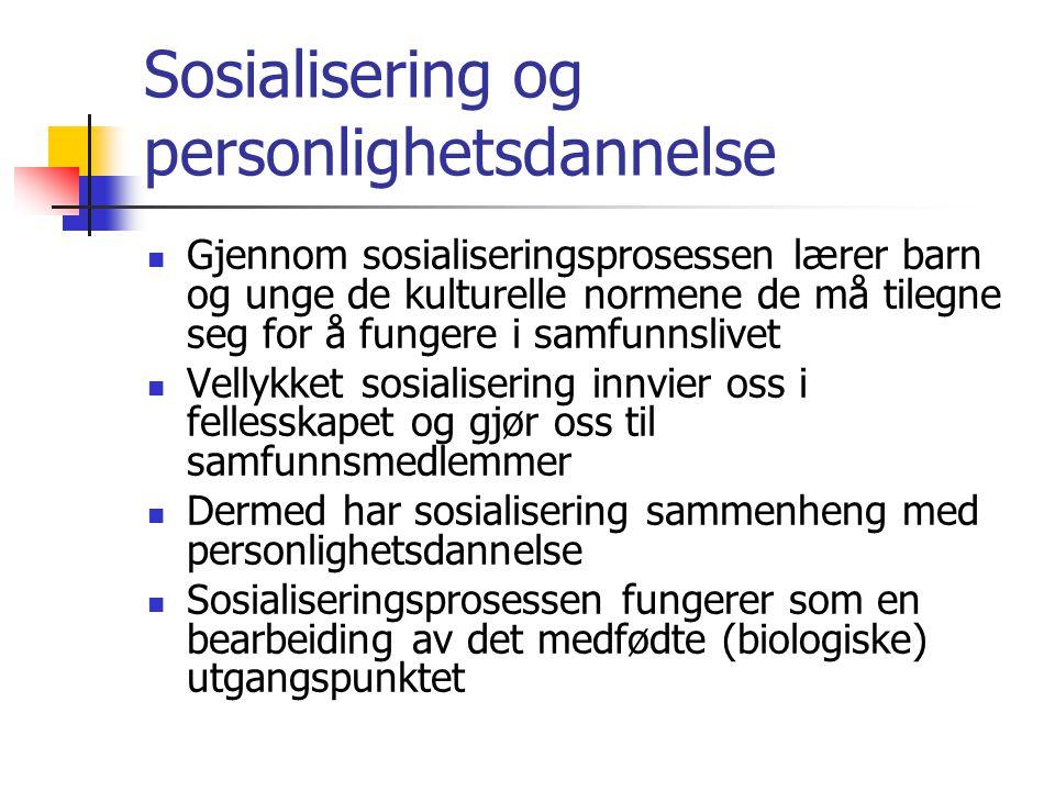Sosialisering og personlighetsdannelse