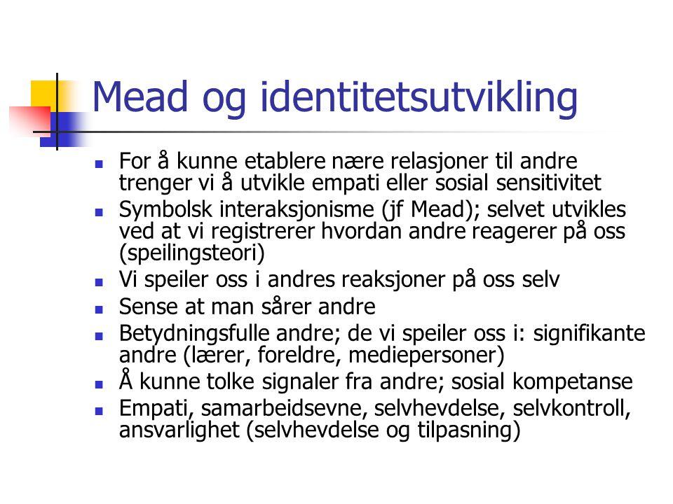 Mead og identitetsutvikling