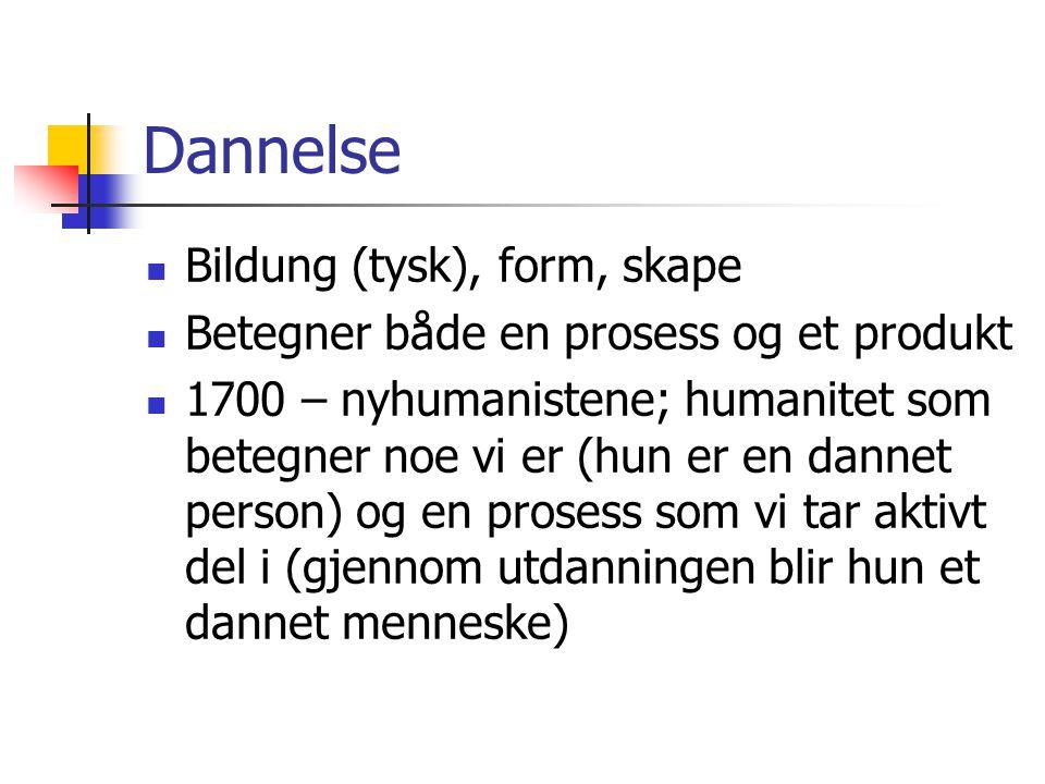 Dannelse Bildung (tysk), form, skape